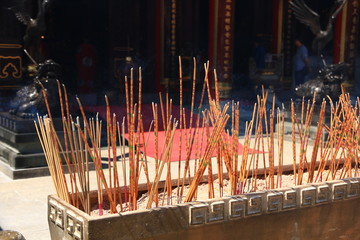 Incense in Chinese Temple