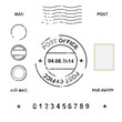 Set of post stamp symbols, vector illustration - 69190507