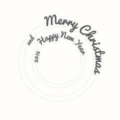 Merry Christmas And Happy New Year 2015, circle design