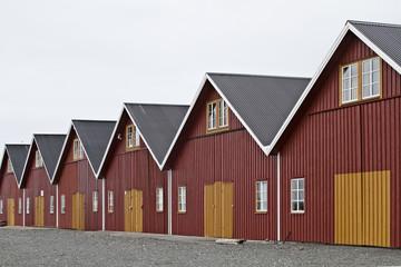 Skandinavische Bootshütten