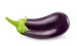 Isolated eggplant. One fresh eggplant over white background, with clipping path - 69190946