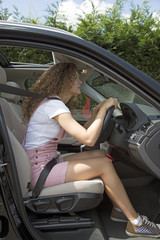 Bad posture and car driving position