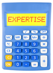Calculator with EXPERTISE on display isolated on white
