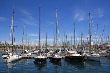 Yachts in Barcelona