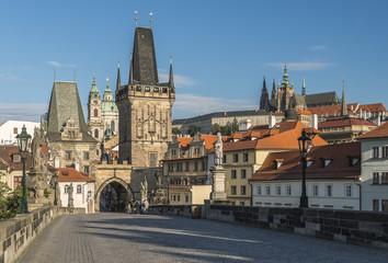 Прага Карлов мост Малостранские мостовые башни