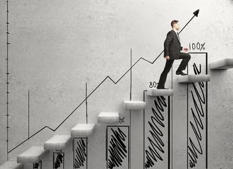 businessman climbing