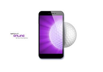 Smartphone, golf ball, sport