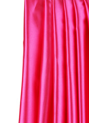 Shiny pink silk drapery.