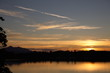 canvas print picture - Forggensee -  Sonnenuntergang