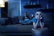 Leinwandbild Motiv Spannende Unterhaltung mit 3D