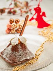 Christmas cake with cinnamon