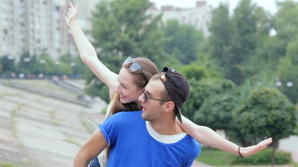 Couple photographed. The guy takes pictures of his gay friends