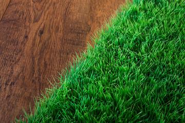 Artificial turf close-up