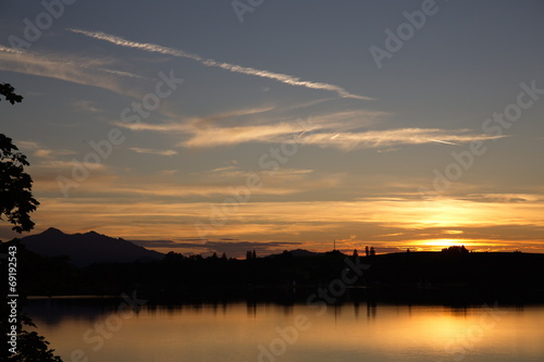 canvas print picture Forggensee -  Sonnenuntergang