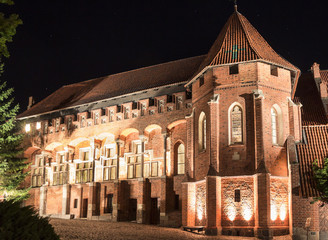 Sights of Poland.The greatest in Europe Gothic Castle-Malbork.