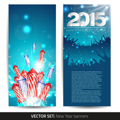 Set of two new year banners
