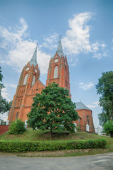 Catholic church in Vilkija, Lithuania