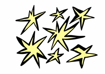 doodle yellow star