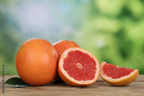 canvas print picture Grapefruit im Sommer mit Textfreiraum