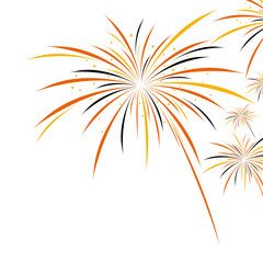Firework halloween design on white background