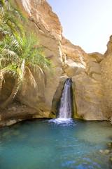 Wasserfall in Chebika eine Bergoase in Tunesien
