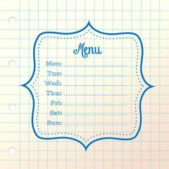 background form menu, simple sketch