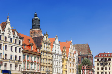 Sights of Poland.  Wroclaw Old Market Square.