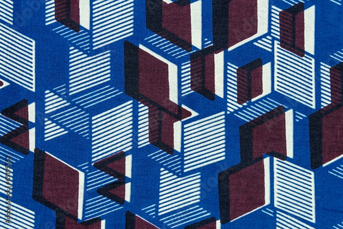 Manufactured African fabric (cotton) - 69195552