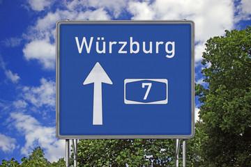 A7 Richtung Würzburg