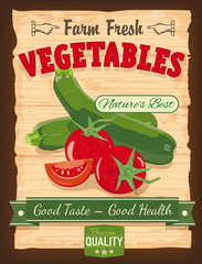 Vintage Design Vegetables Poster