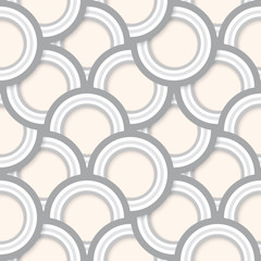 Seamless Abstract Retro Circles Pattern