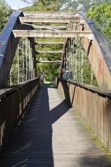 wooden bridge on the lake