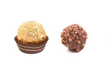 Sweet chocolate candies.