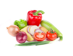 Beautiful ripe vegetables.