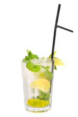 Mahito drink on white background