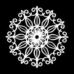 round decoration on black background..