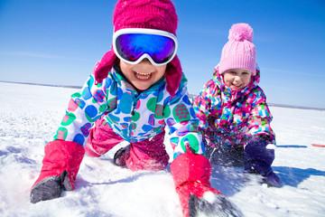kids in wintertime