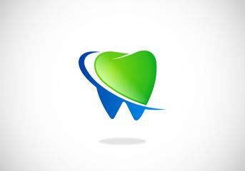 dentist clean teeth protection vector logo