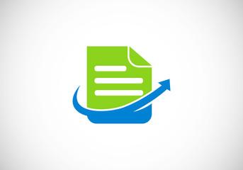 document file arrow vector logo