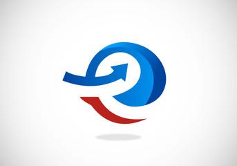 e internet arrow vector logo