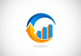 finance arrow circle business vector logo