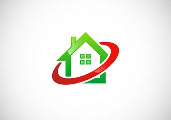 home protection abstract vector logo