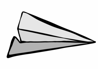 doodle paper airplane