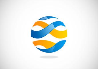round wave communication vector logo