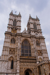 The Westminster Abbey church in London, UK