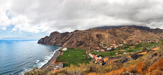An amazing landscape from La Gomera the one of the Canary Island