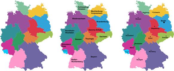 Karte von Deutschland,