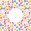 nature love harmony hearts flowers circle frame background