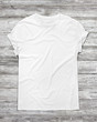canvas print picture - white t-shirt