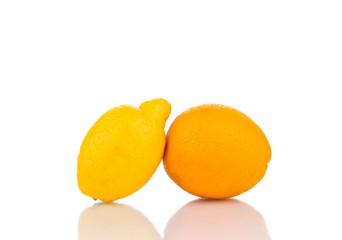Fresh fruits on white.